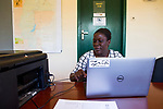 Conservationist working on SMART program to deter poaching, Kafue National Park, Zambia