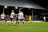 Fran Kirby of England Women scores the first goal during the Women's international friendly match between England Women and Australia at Craven Cottage, London, England on 9 October 2018. Photo by Carlton Myrie / PRiME Media Images.