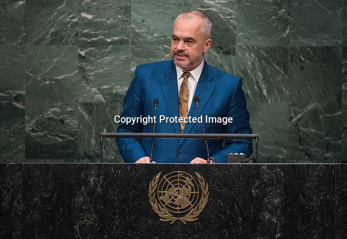HE REPUBLIC OF ALBANIA<br /> H.E. Edi RAMA Prime Minister<br /> General Assembly 70th session 25th plenary meeting<br /> Continuation of the General Debate