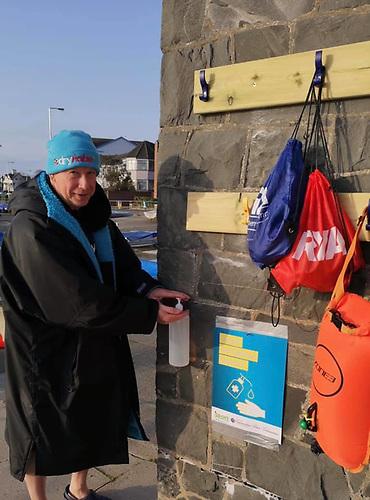 Ballyholme YC Commodore Aidan Pounder took an early morning open water swim in Ballyhomle Bay