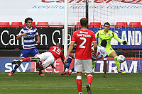 Darren Pratley of Charlton Athletic heads the ball just wide of the Reading post during Charlton Athletic vs Reading, Sky Bet EFL Championship Football at The Valley on 11th July 2020