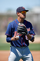 Minnesota Twins shortstop Royce Lewis (8) warms up before a Minor League Spring Training game against the Tampa Bay Rays on March 17, 2018 at CenturyLink Sports Complex in Fort Myers, Florida.  (Mike Janes/Four Seam Images)