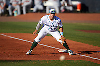 Daytona Tortugas first baseman Brian O'Grady (12) during a game against the Fort Myers Miracle on April 17, 2016 at Jackie Robinson Ballpark in Daytona, Florida.  Fort Myers defeated Daytona 9-0.  (Mike Janes/Four Seam Images)