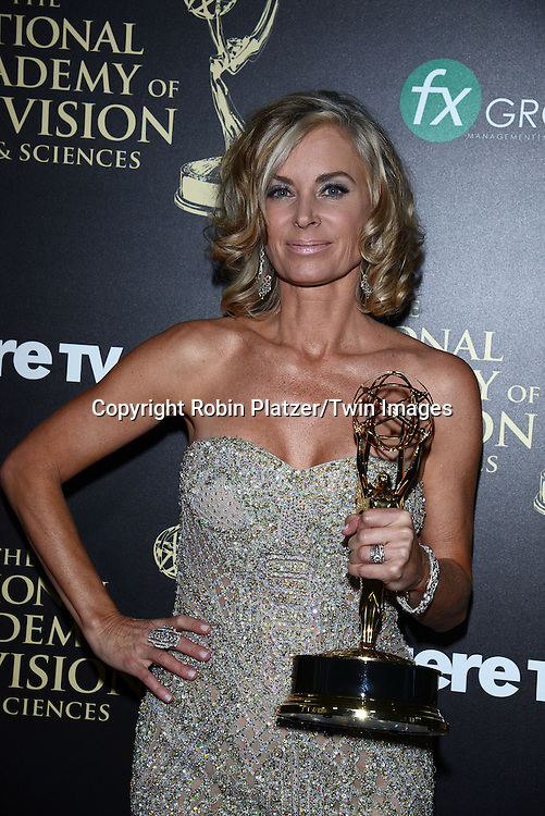 winner Eileen Davidson for Best Actress attends the press room at  the 41st Annual Daytime Emmy Awards on June 22, 2014 at the Beverly Hilton Hotel in Beverly Hills,California.<br /> <br /> photo by Robin Platzer/ Twin Images<br /> <br /> 212-935-0770