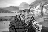 Attilio Fontana, presidente Regione Lombardia, in visita a Como dicembre 2020