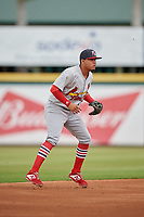 Palm Beach Cardinals shortstop Rayder Ascanio (3) during a Florida State League game against the Bradenton Marauders on May 10, 2019 at LECOM Park in Bradenton, Florida.  Bradenton defeated Palm Beach 5-1.  (Mike Janes/Four Seam Images)