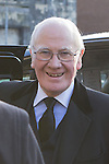 © Joel Goodman - 07973 332324 . 16/01/2014 . Salford , UK . Sir Menzies Campbell , MP for North East Fife , arrives at the funeral . The funeral of Labour MP Paul Goggins at Salford Cathedral today (Thursday 16th January 2014) . The MP for Wythenshawe and Sale East died aged 60 on 7th January 2014 after collapsing whilst out running on 30th December 2013 . Photo credit : Joel Goodman