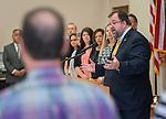 Dr. Robert Sanborn comments during a Children At Risk awards presentation at Pilgrim academy, June 6, 2016.