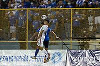 SAN SALVADOR, EL SALVADOR - SEPTEMBER 2: Miles Robinson  #12 of the United States wins the header during a game between El Salvador and USMNT at Estadio Cuscatlán on September 2, 2021 in San Salvador, El Salvador.