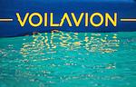 Voilavion prototype, a real flying nautical experimental platform.<br />  Voilavion 18ft test platform was designed to test all kinds of rigs and foils in order to find the best compromise between speed, navigation comfort and pleasure.<br /> Gabin HERVE, bureau d'études, Vincent LANTIN, chef de projet, Gérald QUEOURON, navigateur pilote d'essais.