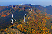 Wind turbines on Buffalo Mtn