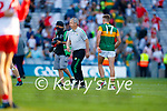 Kerry Manager Peter Keane Players after the Senior football All Ireland Semi-Final between Kerry and Tyrone at Croke park on Saturday.