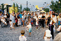 Montreal (Qc) CANADA - File photo circa 1994 - Festival Juste Pour Rire in the Old-Port