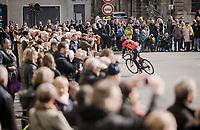 leaving Compiègne<br /> <br /> 117th Paris-Roubaix 2019 (1.UWT)<br /> One day race from Compiègne to Roubaix (FRA/257km)<br /> <br /> ©kramon