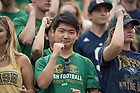 Sept. 26, 2015; ND Stadium student section during the football game against University of Massachusetts at Notre Dame Stadium. (Photo by Barbara Johnston/University of Notre Dame)