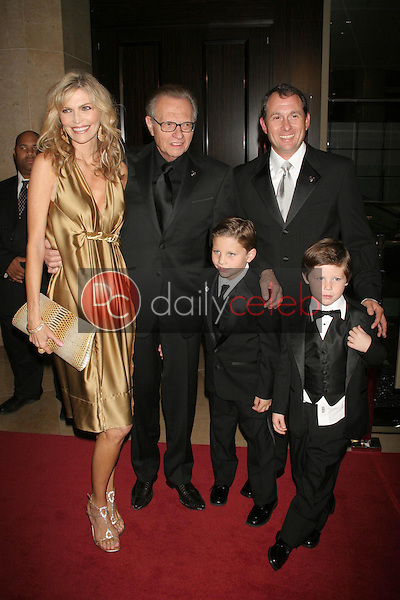 """Shawn Southwick, Larry King and Larry King Jr. with family<br />at """"An Evening with Larry King and Friends"""" fundraising gala. The Beverly Hilton Hotel, Beverly Hills, CA. 11-21-06<br />Dave Edwards/DailyCeleb.com 818-249-4998"""