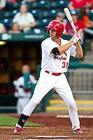 Jake Shaffer (31) of the Springfield Cardinals at bat during a game against the Arkansas Travelers at Hammons Field on May 5, 2012 in Springfield, Missouri. (David Welker/Four Seam Images)