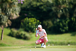 TAOYUAN, TAIWAN - OCTOBER 22: Catriona Matthew of Scotland lines up a putt on the 8th hole during day three of the LPGA Imperial Springs Taiwan Championship at Sunrise Golf Course on October 22, 2011 in Taoyuan, Taiwan. Photo by Victor Fraile / The Power of Sport Images