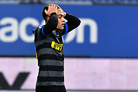 Lautaro Martinez of FC Internazionale looks dejected during the Serie A football match between UC Sampdoria and FC Internazionale at stadio Marassi in Genova (Italy), January 6th, 2021. <br /> Photo Daniele Buffa/Image Sport / Insidefoto