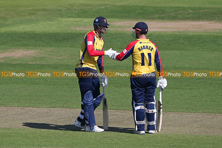 Paul Walter and Simon Harmer in batting action for Essex during Hampshire Hawks vs Essex Eagles, Vitality Blast T20 Cricket at The Ageas Bowl on 16th July 2021
