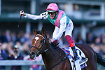 November 3, 2018: Enable #2, ridden by Frankie Dettori, wins the Longines Breeders' Cup Turf on Breeders' Cup World Championship Saturday at Churchill Downs on November 3, 2018 in Louisville, Kentucky. Michael McInally/Eclipse Sportswire/CSM
