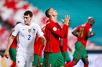 14th November 2020, The Estádio da Luz, Lisbon, Portugal; Nations League International football, Portugal versus France; Cristiano Ronaldo of Portugal looks up as he misses a good scoring chance