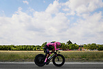 Race leader Maglia Rosa Egan Bernal (COL) Ineos Grenadiers in action during Stage 21 of the 2021 Giro d'Italia, an individual time trial running 30.3km from Senago to Milan, Italy. 30th May 2021.  <br /> Picture: LaPresse/Fabio Ferrari   Cyclefile<br /> <br /> All photos usage must carry mandatory copyright credit (© Cyclefile   LaPresse/Fabio Ferrari)