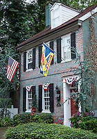 Quaint colonial house on historic Woods Street, Burlington, New Jersey, USA