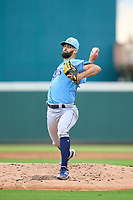 FCL Rays pitcher Nick Anderson (70) during a game against the FCL Pirates Gold on July 26, 2021 at LECOM Park in Bradenton, Florida. (Mike Janes/Four Seam Images)