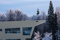 UAA's Alaska Native Science and Engineering Program Building on a frosty morning.