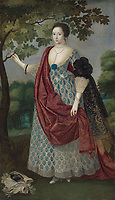 BNPS.co.uk (01202 558833)<br /> Pic: Christies/BNPS<br /> <br /> Pictured: A portrait of Cecilia Neville (b.c.1604), full-length, in an Arcadian landscape, by Robert Peake, that sold for £562,000.<br /> <br /> An impressive collection of furniture and artworks amassed by British designer Jasper Conran has sold for a massive £6.7m.<br /> <br /> Several paintings set new world auction records and the top lot was a 16th century portrait of Anthony Maria Browne, that sold for £742,500.<br /> <br /> The collection, which spans four centuries and had been gathered over 30 years, had filled Conran's impressive home at New Wardour Castle in Wiltshire.<br /> <br /> But he put the property on the market last August and after downsizing to a smaller home decided to auction most of his treasures.