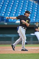 Pittsburgh Pirates scout Adam Bourassa hits fungos during the East Coast Pro Showcase at the Hoover Met Complex on August 2, 2020 in Hoover, AL. (Brian Westerholt/Four Seam Images)