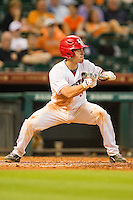 John Cannon #37 of the Houston Cougars squares to bunt against the Tennessee Volunteers at Minute Maid Park on March 2, 2012 in Houston, Texas.  The Cougars defeated the Volunteers 7-4.  (Brian Westerholt/Four Seam Images)
