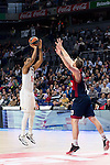 Real Madrid´s player Thompkins during the 4th match of the Turkish Airlines Euroleague at Barclaycard Center in Madrid, Spain, November 05, 2015. <br /> (ALTERPHOTOS/BorjaB.Hojas)