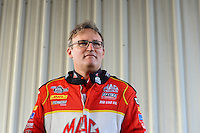 Sept. 30, 2012; Madison, IL, USA: NHRA top fuel dragster driver Doug Kalitta during the Midwest Nationals at Gateway Motorsports Park. Mandatory Credit: Mark J. Rebilas-