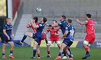 9th September 2020; AJ Bell Stadium, Salford, Lancashire, England; English Premiership Rugby, Sale Sharks versus Saracens;  Simon Hammersley of Sale Sharks under a loose ball