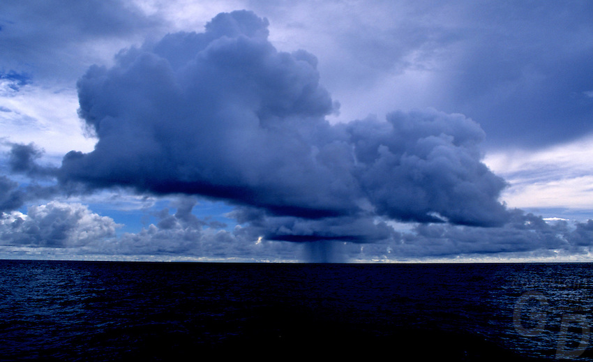 A storm brewing over the Pacific Ocean near Palau Micronesia