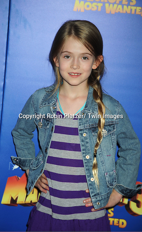 """actress Ashley Gerasimovich attends the """"Madagascar 3:  Europe's Most Wanted""""  New York Premiere on June 7, 2012 at The Ziegfeld Theatre in New York City."""