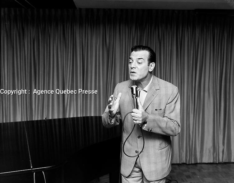 Sujet : Georges Guetary<br /> Date : 17 septembre 1965<br /> <br />  © Agence Québec Presse, Fonds Photo Moderne