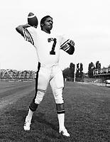 Condredge Holloway Ottawa Rough Riders quarterback 1975. Copyright photograph Scott Grant