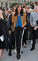 Octber 3 2017, PARIS FRANCE the Louis Vuitton Show at the Paris Fashion Week<br /> Spring Summer 2017/2018. Laura Harrier<br /> arrives at the show.