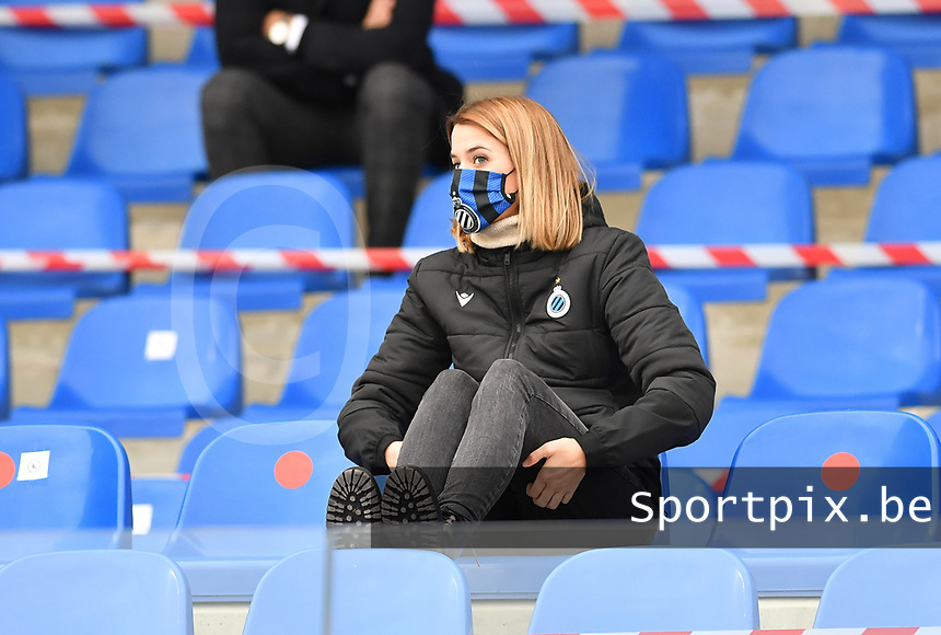 Brugge's Justine Rombaut pictured during a female soccer game between Club Brugge Dames YLA and Oud Heverlee Leuven on the 8 th matchday of the 2020 - 2021 season of Belgian Scooore Womens Super League , saturday 21 th November 2020  in Knokke , Belgium . PHOTO SPORTPIX.BE | SPP | DAVID CATRY
