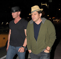 MIAMI, FL - DECEMBER 31, 2008: Ian Ziering (L)  and Grant Show out and about in South Beach .  On December 31, 2008 in Miami, Florida. <br /> <br /> People:   Ian Ziering, Grant Show
