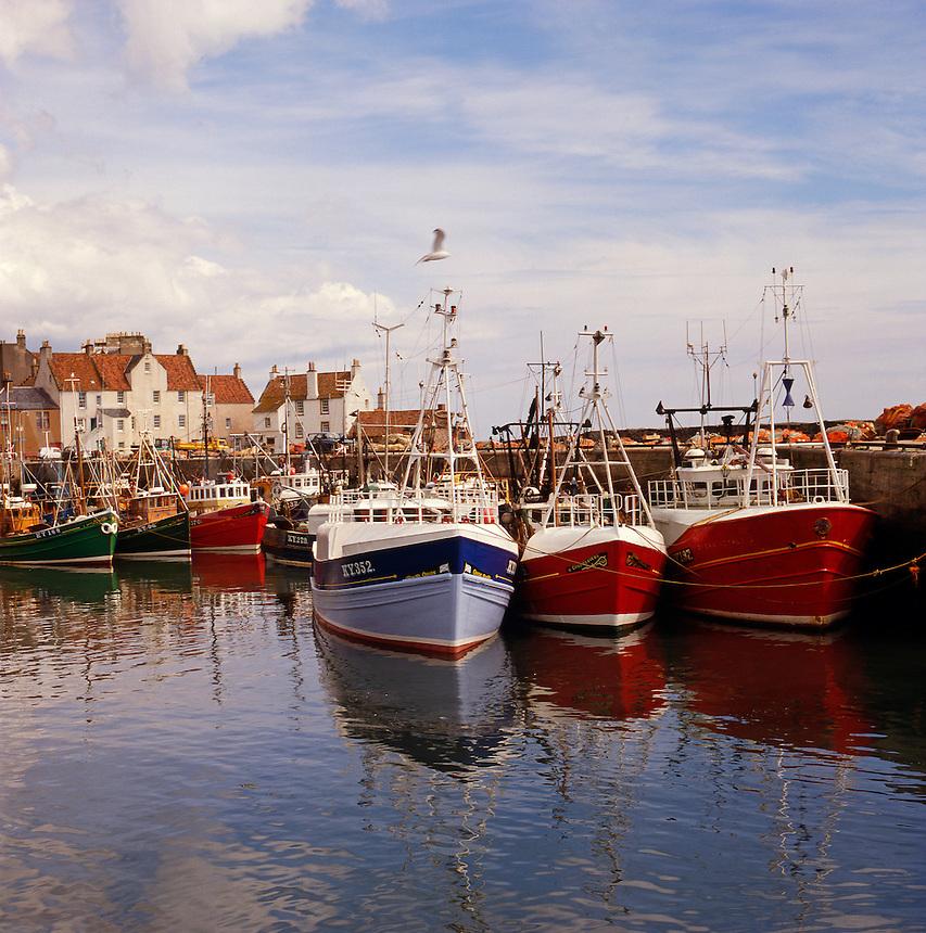 Scotland. Fife. Pittenweem fishing harbour/harbor.