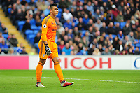 Neil Etheridge of Cardiff City during the Premier League match between Cardiff City and Burnley at Cardiff City Stadium in Cardiff, Wales, UK. Sunday 30 September 2018