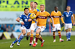 St Johnstone v Motherwell…21.11.20   McDiarmid Park      SPFL<br />Craig Conway and Robbie Crawford<br />Picture by Graeme Hart.<br />Copyright Perthshire Picture Agency<br />Tel: 01738 623350  Mobile: 07990 594431