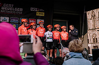 Team CCC-Liv pre- race presentation<br /> <br /> 8th Gent-Wevelgem In Flanders Fields 2019 <br /> Elite Womens Race (1.WWT)<br /> <br /> One day race from Ypres (Ieper) to Wevelgem (137km)<br /> ©JojoHarper for Kramon