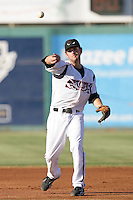 September 6 2009:  Beamer Weems of the Lake Elsinore Storm during game against the San Jose Giants at The Diamond in Lake Elsinore,CA.  Photo by Larry Goren/Four Seam Images