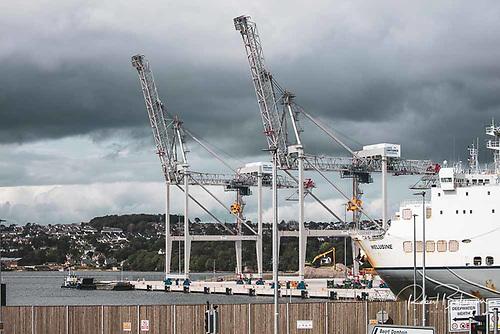 Port of Cork's new gantry cranes Photo: Bob Bateman