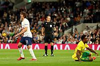 26th August 2021; Tottenham Hotspur Stadium, London, England; Europa Conference League football, Tottenham Hotspur versus Paços de Ferreira; Bryan Gil of Tottenham Hotspur reacts as his shot is saved